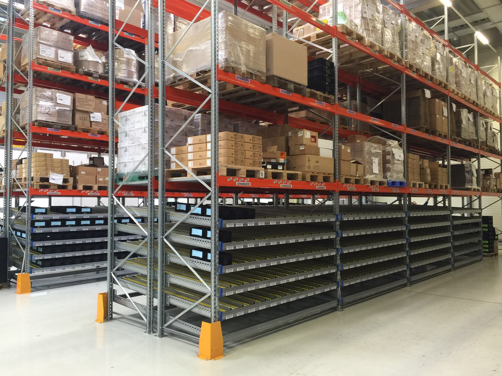 Pallets and boxes warehouse