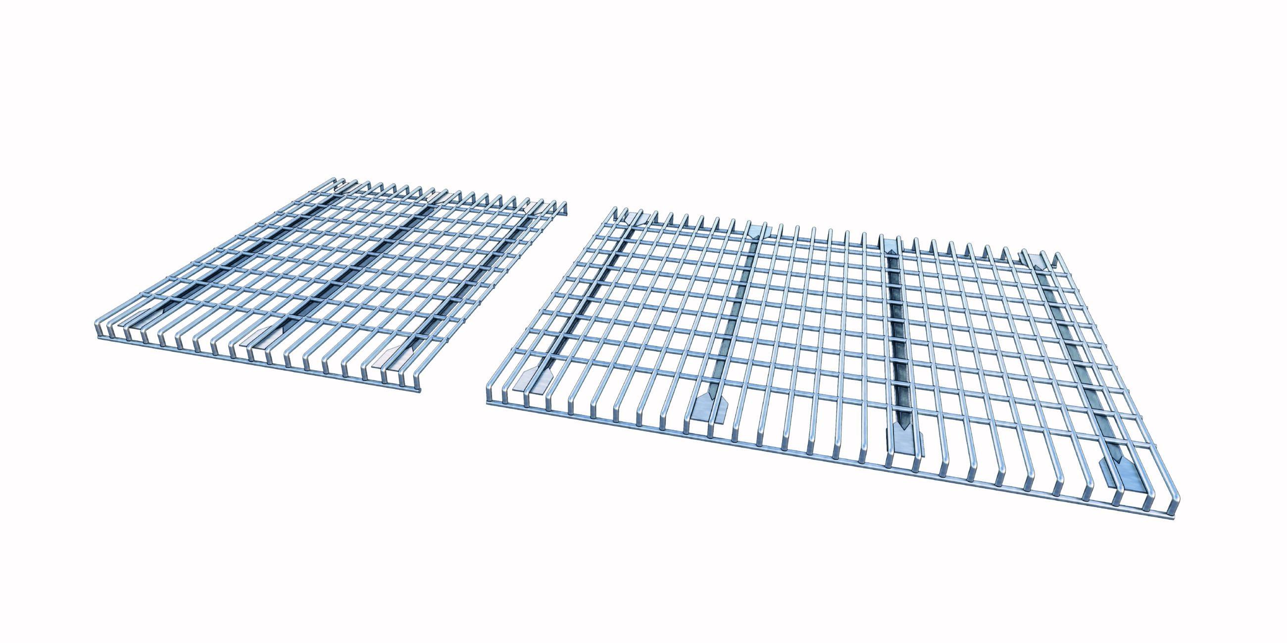 Palletstellingen gaasborden gaasroosters mesh grid shelving