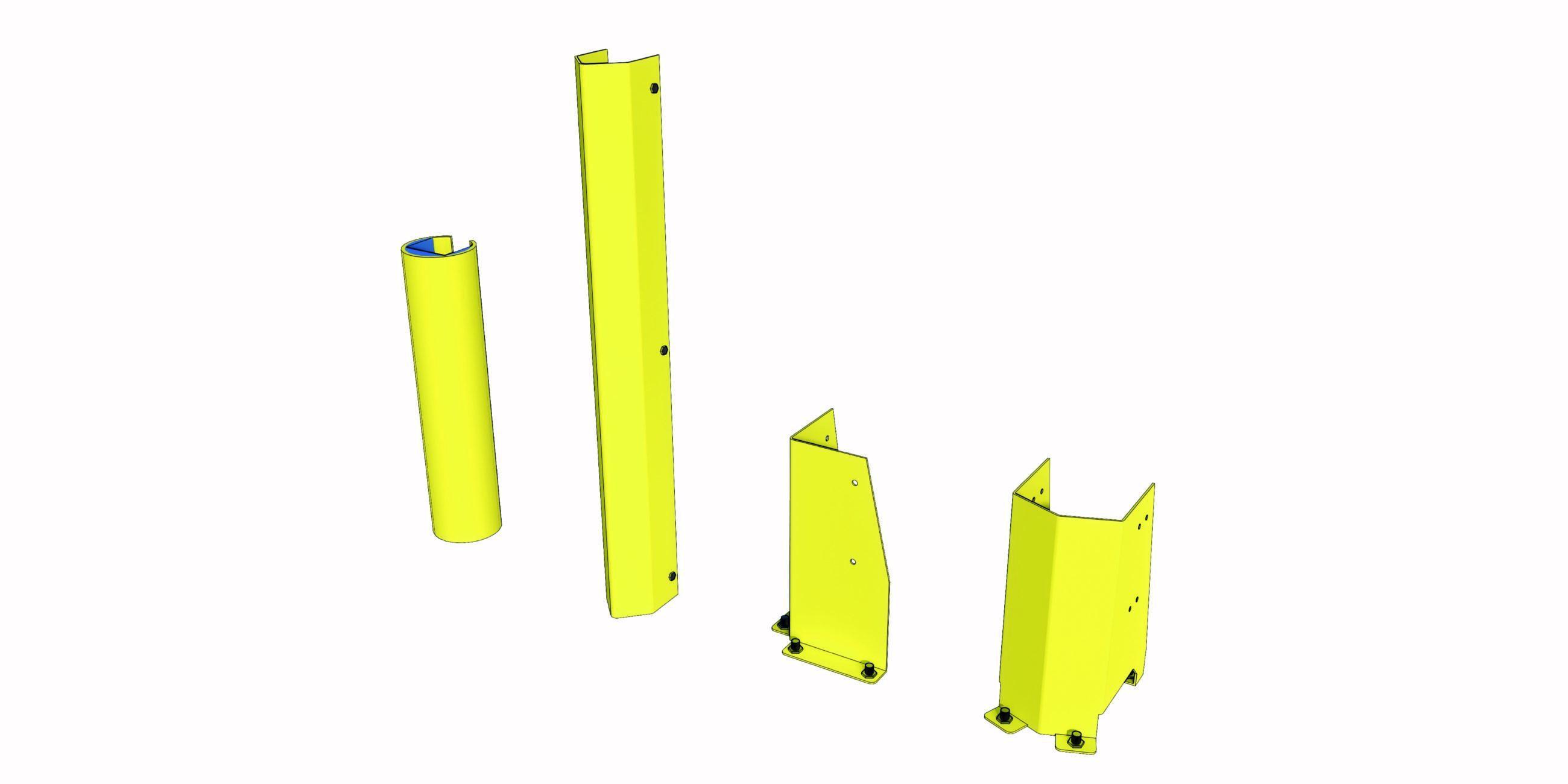 Palletstellingen kop bescherming upright protection